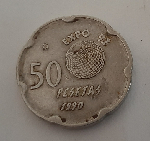 50 Pesetas Expo 92 .