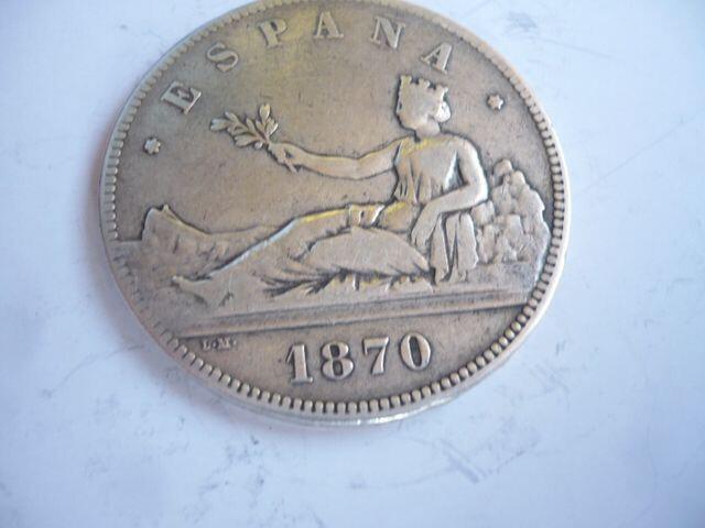Moneda De Plata De 5 Pts Año 1870