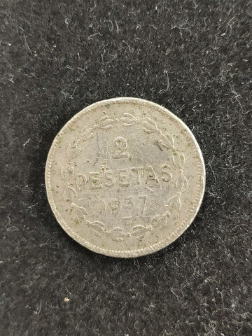 España 2 Pesetas, 1937