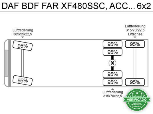 DAF XF106.  480 6X2 BDF INTARDER - foto 7