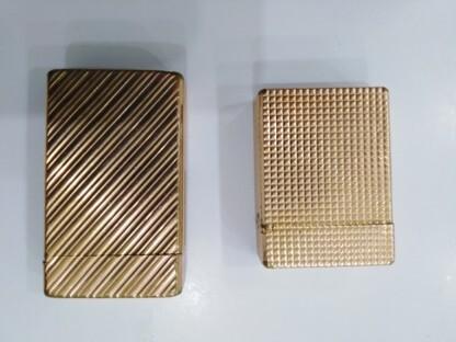Dos Encendedores Dupont De Oro