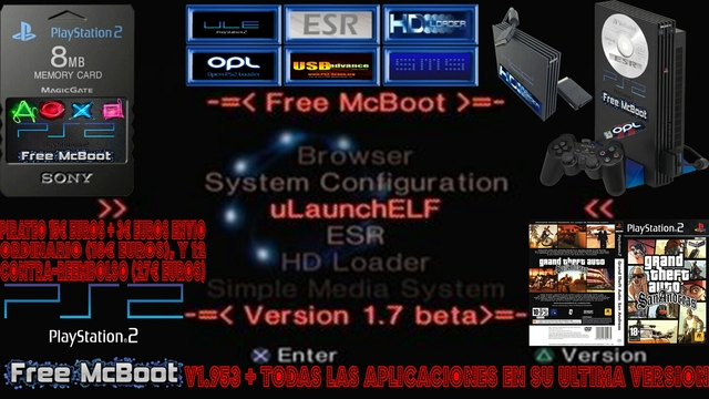 PIRATEO MEMORY CARD FREE MCBOOT PS2 25 - foto 1