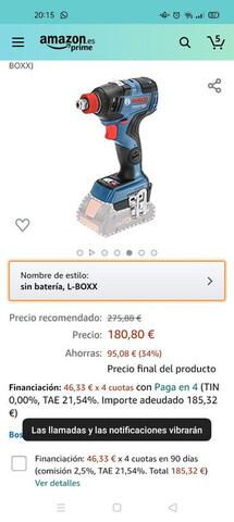 Atornillador Bosch Con Batería 4 Amperio