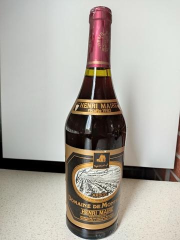 Botella Vino Francés Henri Maire