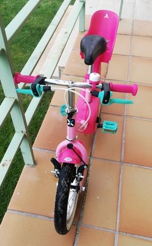 Bicicleta De Niños Btwin + Transportín