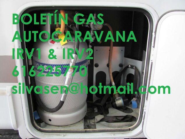CERTIFICADO GAS CARAVANA IRV1 – IRV2 - foto 1