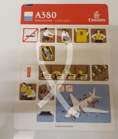 Carta Seguridad Avión Airbus A380