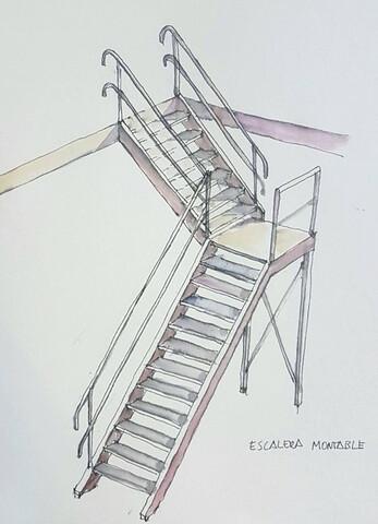 Escalera De Aluminio.