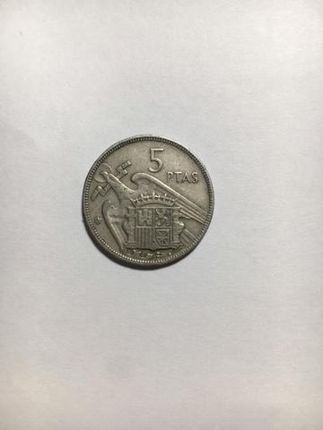 Moneda, 5 Pesetas 1957. Colección.