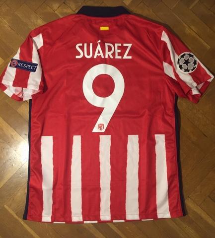 Camiseta Futbol Atletico Madrid Suarez