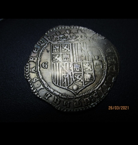 Moneda 4 Reales Plata 1497 !!!