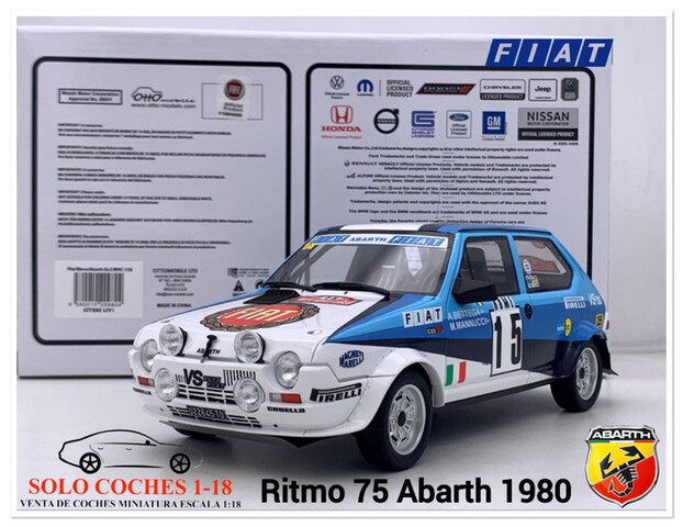 1:18 Fiat Ritmo Abarth Gr2 Rally  1980