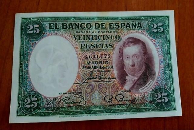 Billete 25 Pesetas Año 1931.Ebc