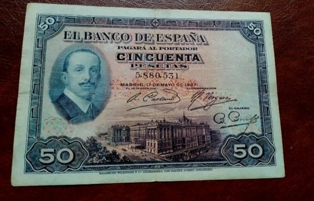 Billete 50 Pesetas Año 1927