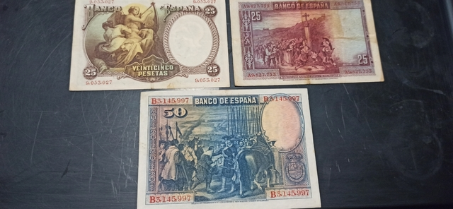 Lote Billetes Antiguos.
