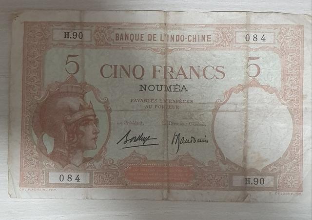 Billetes Nueva Caledonia 1926