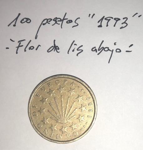 Moneda 100 Pesetas 1993 Juan Carlos I