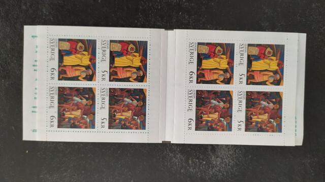 Sello Carnet De Suecia Europa Cept 1995