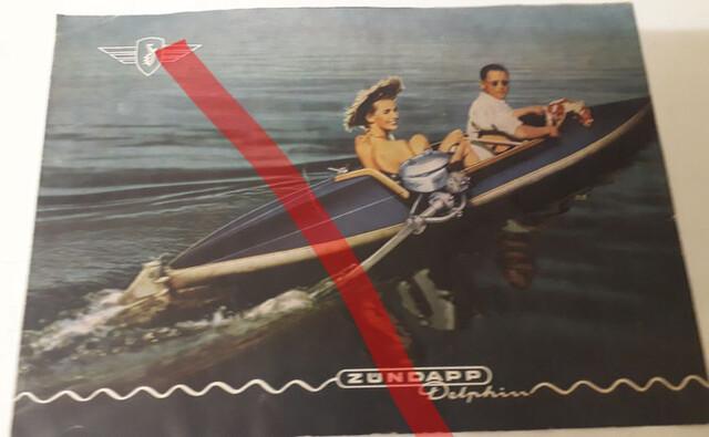 Zündapp Publicidad Barca Moto Antiguo