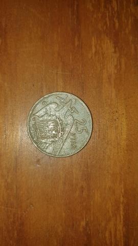 Moneda De 25 Pesetas 1957.