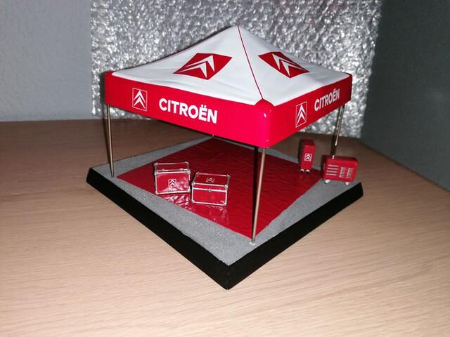 Stand Carpa Asist Citroen Rallye 1/43