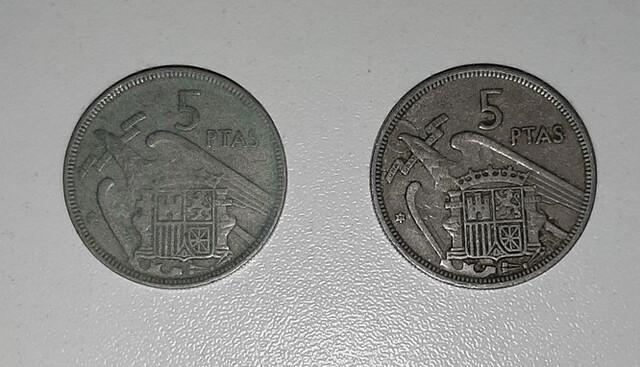 Monedas De 5 Pesetas De 1957