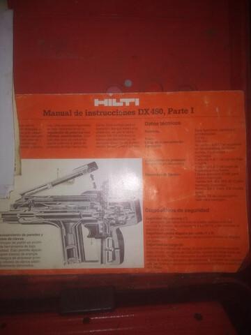 Hilti Dx 450 Pistola Polvora
