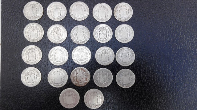 Monedas De 1 Pta De Plata 22 Unds