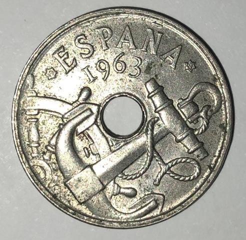 Moneda España 50 Céntimos De 1963*65!