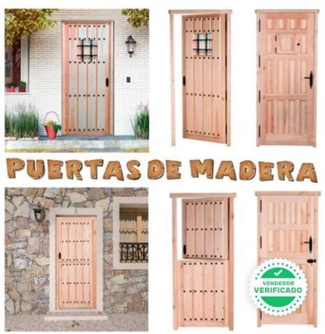 Puerta Entrada Madera Maciza