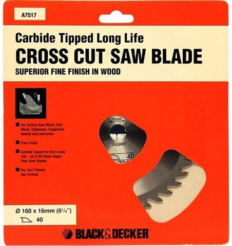 Black/Decker 160Mm Hoja Sierra Circular