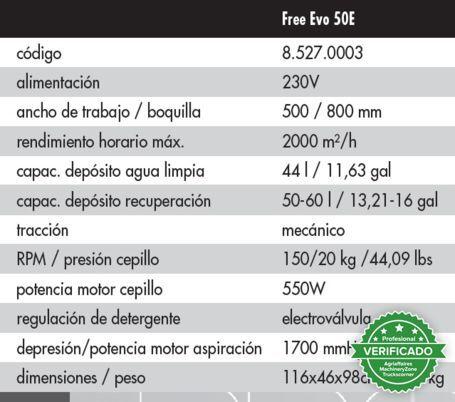 FREGADORA ELECTRICA LAVOR FREE EVO 50E - foto 6
