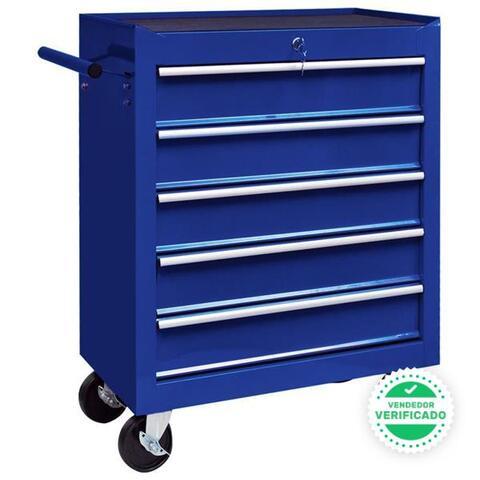 Carrito Caja Herramientas 5 Cajones Azul