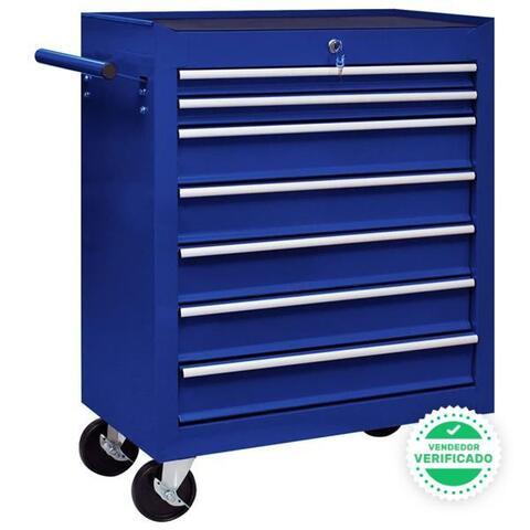 Carrito Caja Herramientas 7 Cajones Azul