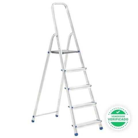 Escalera Aluminio 5 Peldaños 150 Kg