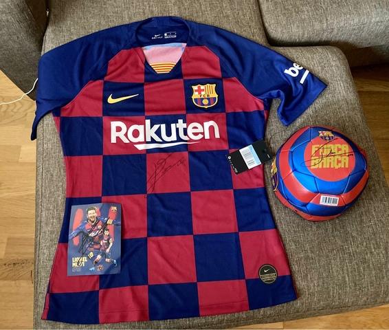 Camiseta Barcelona 2019-20 Firmada Messi