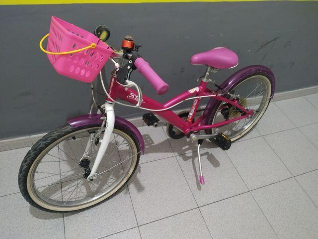 Bici Niña Con Cesta 20 Pulgadas