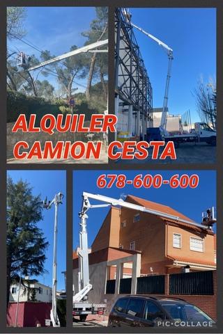 ALQUILER CAMION CESTA PLATAFORMA - foto 2