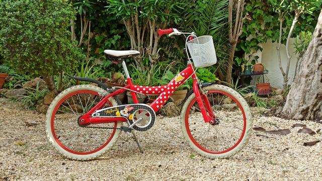 Bicicleta De Niña Con Cesta Y Casco