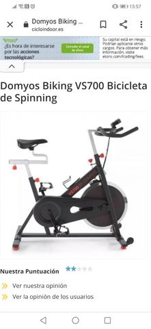 BICICLETA SPINNING BIKING VS700 DOMYOS - foto 1