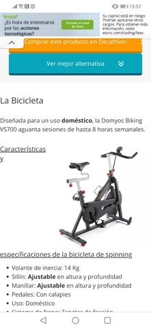 BICICLETA SPINNING BIKING VS700 DOMYOS - foto 2