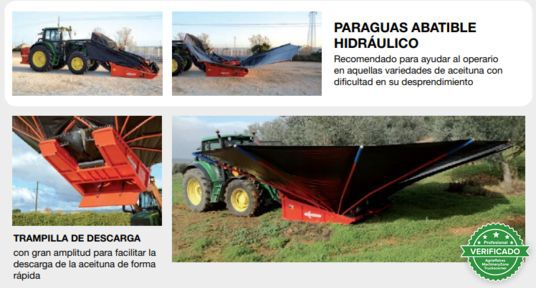 RECOLECTOR DE ACEITUNA CON PARAGUAS Y CA - foto 2