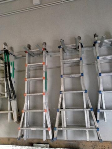 Escalera Aluminio 6 Peldaños Extensible
