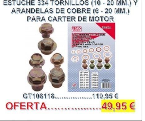 534 Tornillos  Arandelas De Cobre Carter