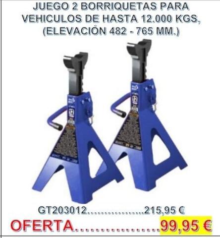 2 Borriquetas Para Vehículos 12. 000 Kg.