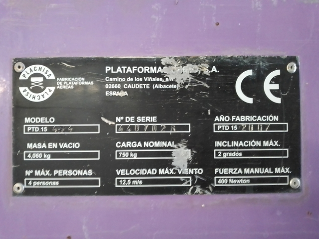 PLATAFORMA ELEVADORA DE TIJERA - foto 6