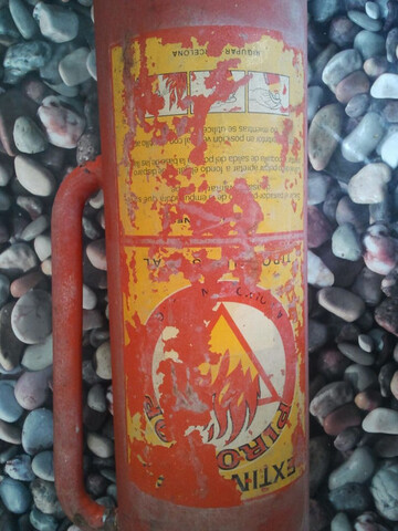 Extintor Antiguo De Fuegos Industriales