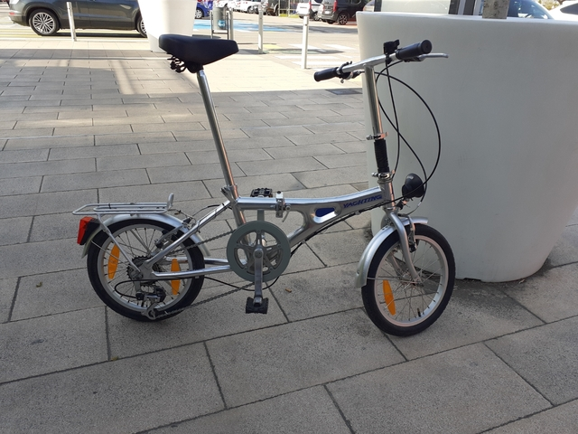 "Bicicleta Plegable De Aluminio Y 16\"""