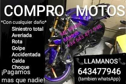 COMPRO MOTOS AVERIADAS, ACCIDENTADAS, ROTA - foto 1