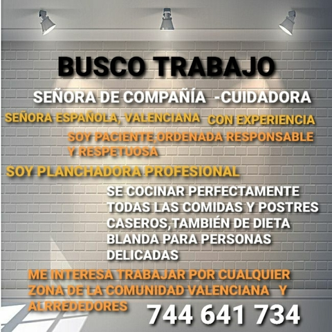 SEÑORA DE COMPAÑÍA--CUIDADORA - foto 1